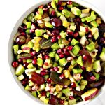Winter Fruit Salsa is a healthy Thanksgiving or Christmas side dish appetizer recipe! | spiritedandthensome.com