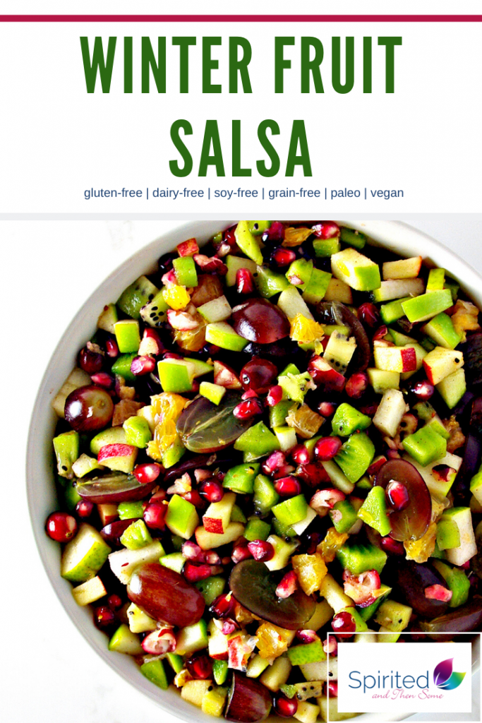 Winter Fruit Salsa is a delicious Christmas appetizer recipe! | spiritedandthensome.com