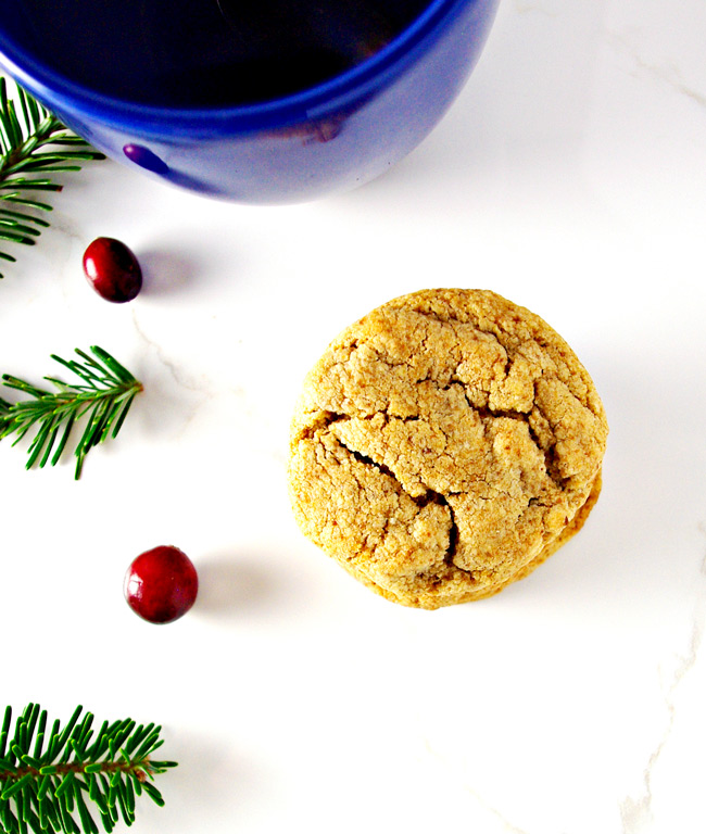 These gluten-free Buttery Almond Cookies are crispy around the edges and soft in the center!   spiritedandthensome.com