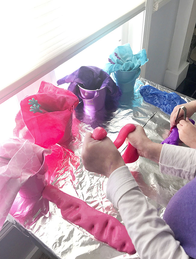 Cooperative play and sensory play activities with slime work across several age groups! | spiritedandthensome.com