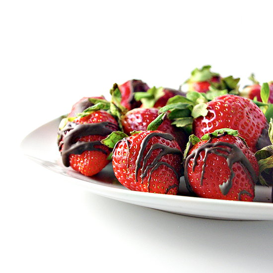Dairy-free Chocoalte Drizzled Strawberries