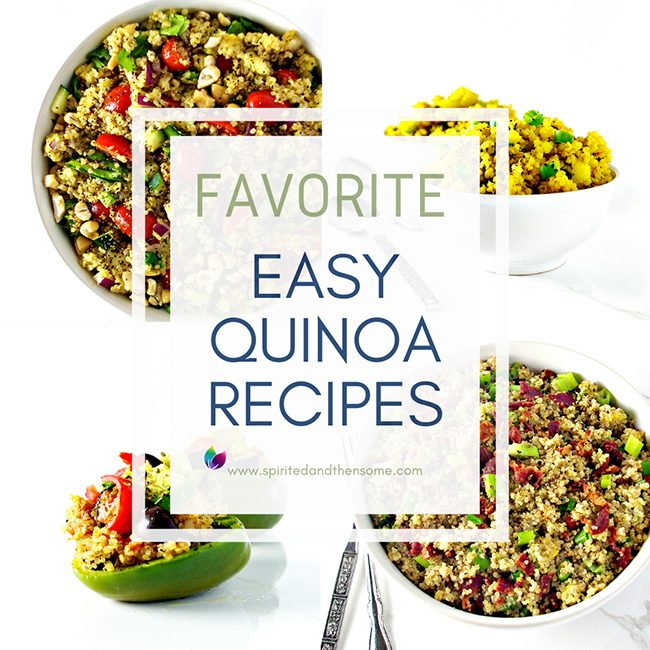 These are my favorite easy quinoa recipes! Serve quinoa hot or cold, sweet or savory, and for breakfast, lunch, or dinner! Delicious straight out of the saucepan or as leftovers! And quinoa is excellent for meal prep!   spiritedandthensome.com