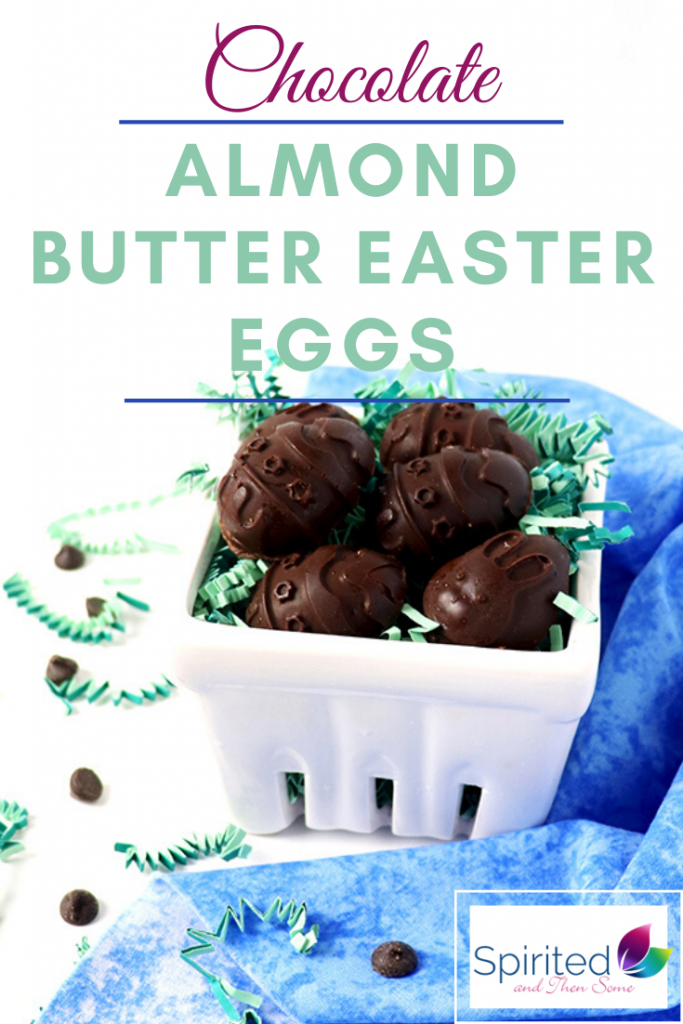 Chocolate Almond Butter Easter Eggs are a delicious dairy-free dessert the whole family can enjoy making together! Substitute your favorite sweetener, nut butter, and choice of chocolate! | spiritedandthensome.com