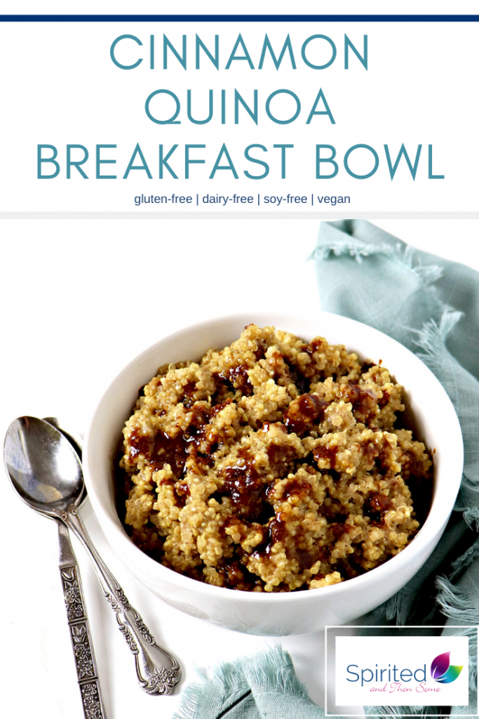 Cinnamon Quinoa Breakfast Bowls are a delicious gluten-free, vegan breakfast recipe and a sweet way to start your day! Ready in about 20 minutes or less! | spiritedandthensome.com