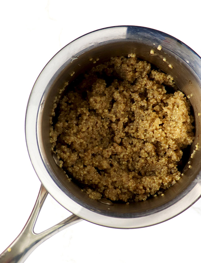 Cooked quinoa for Cinnamon Quinoa Breakfast Bowls! {Vegan and Gluten-Free} | spiritedandthensome.com