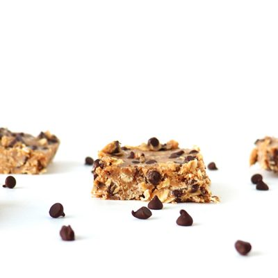 Chocolate Chip Oatmeal Bars {GF + DF}