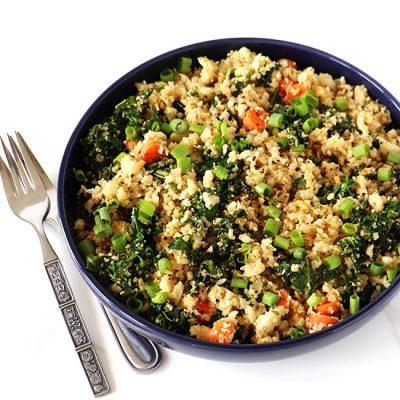 Kale Cauliflower Rice Stir-Fry