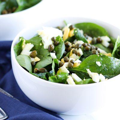 Caper Spinach Salad