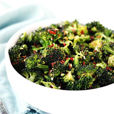 Spicy Garlic-Roasted Broccoli