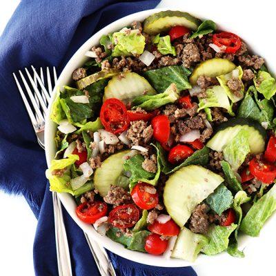 Gluten-Free Hamburger Salad