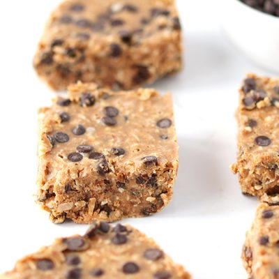 No-Bake Paleo Chocolate Chip Coconut Bars