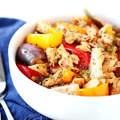 Salmon Pepper Stir-Fry