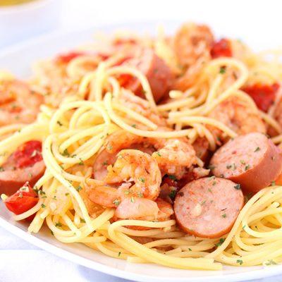 Shrimp and Sausage Pasta