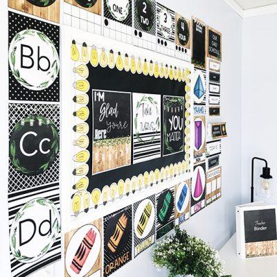 Festive Farmhouse Classroom Decor